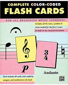 Alfred Complete Color Coded Flash Cards