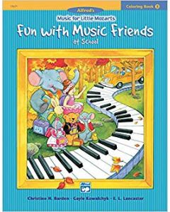 Alfred's Little Mozarts Fun With Music Friends Coloring Book 3