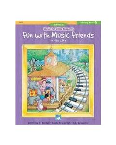 Alfred's Little Mozarts Fun With Music Friends Coloring Book 4