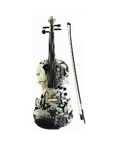 Black and White 4/4 Violin