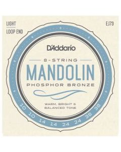 D'Addario Phospor Bronze Mandolin Loop End Light Strings
