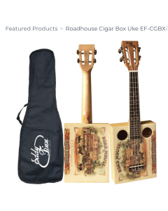 Eddie Finn Roadhouse Cigar Box Ukulele